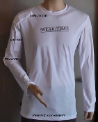 WEAR-THAT Ice Therapy Shirt For Right Hander Shirt Size Small